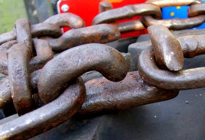 locking hooks of the middle chains